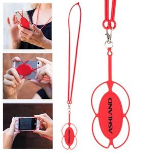 The Stretch Silicone Phone Holder - Red